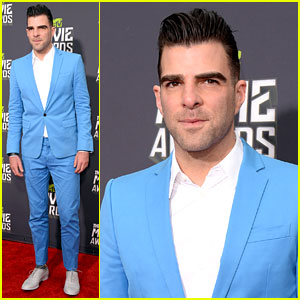 Zachary Quinto - MTV Movie Awards 2013 Red Carpet