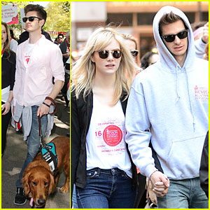 Andrew Garfield & Emma Stone: Holding Hands at EIF Revlon Run Walk!