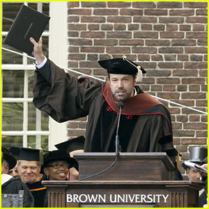 Ben Affleck Receives Honorary Doctorate from Brown University