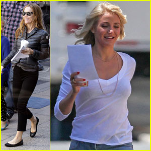 Cameron Diaz: 'The Other Woman' Set with Leslie Mann