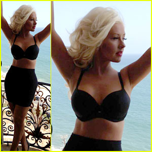 Christina Aguilera Flaunts Slim Figure on Music Video Set!