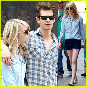 Emma Stone & Andrew Garfield Cuddle Up in NYC
