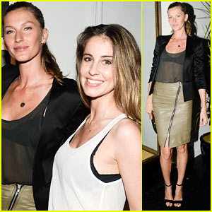 Gisele Bundchen: BLK DNM Viewing with Sister Gabriela!