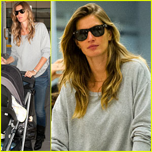Gisele Bundchen & Vivian Land in NYC After H&M News!