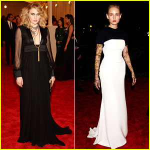 Greta Gerwig & Leelee Sobieski - Met Ball 2013 Red Carpet