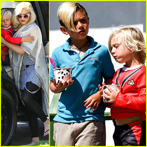 Gwen Stefani: Menchie's Treats for Kingston & Zuma!