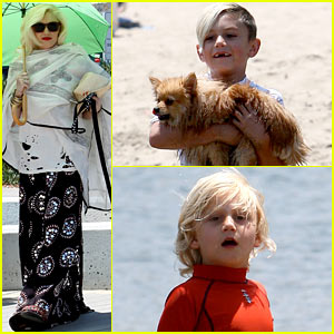 Gwen Stefani Spends Beach Day with Kingston &#038; Zuma!