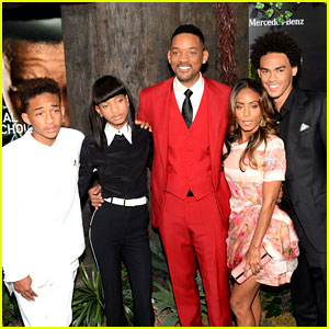 Jaden & Will Smith: 'After Earth' Premiere with Jada, Willow, & Trey!