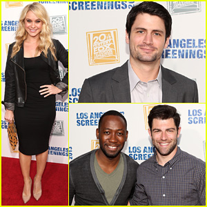 James Lafferty & Max Greenfield: Fox L.A. Screenings Lot Party!