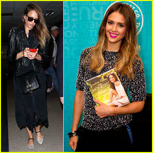 Jessica Alba Flies Home to Kids After Texas Book Signing