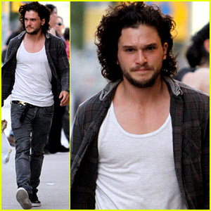 Kit Harington Grabs Groceries During 'Pompeii' Filming Break