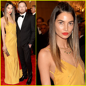 Lily Aldridge & Caleb Followill - Met Ball 2013 Red Carpet