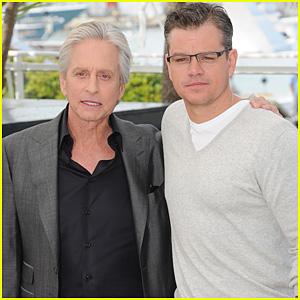 Matt Damon & Michael Douglas: Cannes 'Behind The Candelabra' Photo Call!