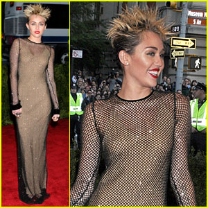 Miley Cyrus - Met Ball 2013 Red Carpet