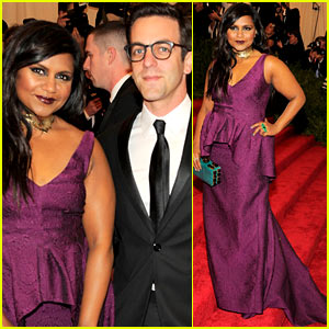 Mindy Kaling: Met Ball 2013 Red Carpet with BJ Novak