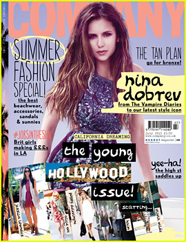 Nina Dobrev Covers 'Company' July 2013