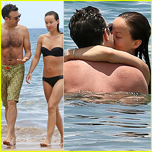 Olivia Wilde & Shirtless Jason Sudeikis: Kissing in Hawaii!