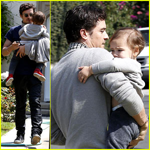 Orlando Bloom & Flynn: Father-Son Outing in Los Angeles!