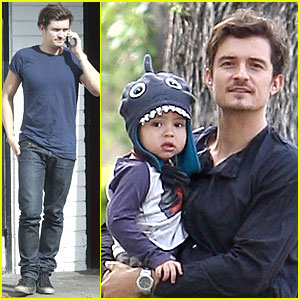 Orlando Bloom & Flynn: L.A Stroll After Miranda Kerr's Met Ball!