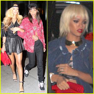 Rihanna: Short Blond Wig in New York!