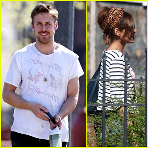 Ryan Gosling & Eva Mendes: 'How to Catch a Monster' Set!