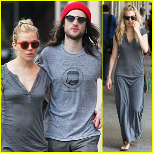 Sienna Miller & Tom Sturridge: Family Meet Up with Marlowe!