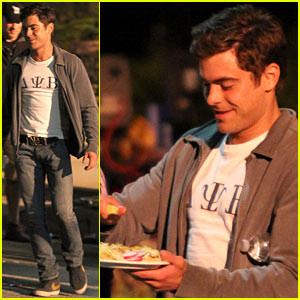 Zac Efron: Taco Time on 'Townies' Set!