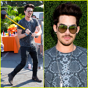 Adam Lambert: Hammer Time at Just Jared's Summer Kick-Off Party Presented By McDonald's!