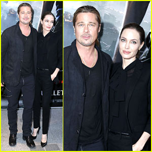 Angelina Jolie & Brad Pitt: 'World War Z' Paris Premiere!