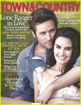 Armie Hammer Covers 'Town & Country' with Wife Elizabeth Chambers!