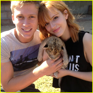 Bella Thorne & Tristan Klier Hold Newborn Lion in South Africa - Exclusive Pics!