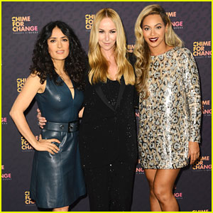Beyonce & Salma Hayek: Chime for Change Concert Media Room!