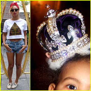 Beyonce Shares Blue Ivy's Royal Photos o