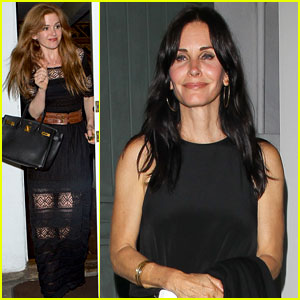 Courteney Cox Celebrates Her Birthday with Isla Fisher & Laura Dern