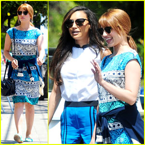 Dianna Agron & Naya Rivera: Little Dom's Lunch Gal Pals!