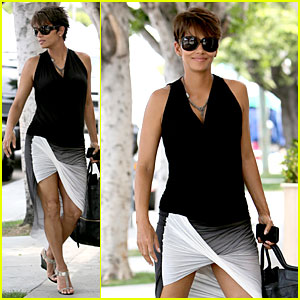 Halle Berry: Twisted Legs at Fig & Olive!
