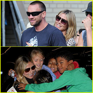Heidi Klum Hugs Martin Kirsten After Her Kids' Heartfelt L.A. Farewell