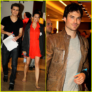 Ian Somerhalder & Paul Wesley: Another Day at BloodyCon!