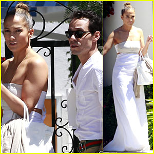 Jennifer Lopez & Marc Anthony Reunite for Twins' School Event