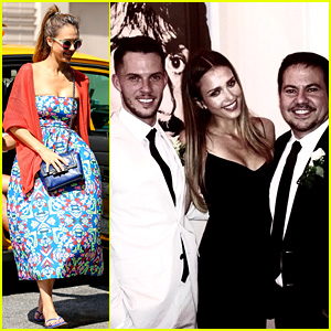 jessica alba attends narciso rodriguez�s wedding in nyc