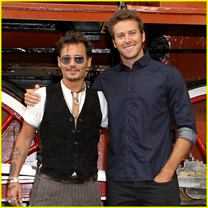 Johnny Depp & Armie Hammer: 'Lone Ranger' Moscow Photo Call