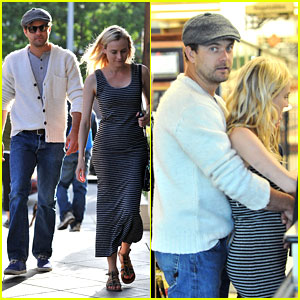 Joshua Jackson Cuddles Diane Kruger in the Checkout Line