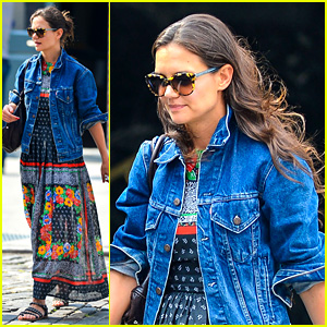Katie Holmes: Pastis Lunch with Agent Adam Schweitzer!