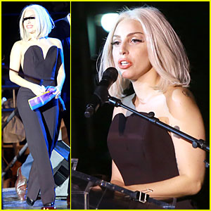 Lady Gaga Sings National Anthem During NYC Pride Rally - Watch Now!
