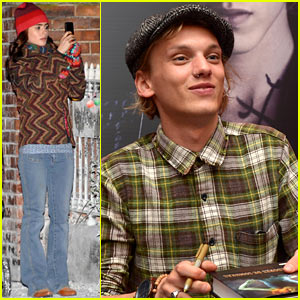 Lily Collins Films 'Love, Rosie,' Jamie Campbell Bower Promotes 'City of Bones'