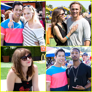 Maika Monroe & Michael B. Jordan: Just Jared's Summer Kick-Off Party Presented By McDonald's!