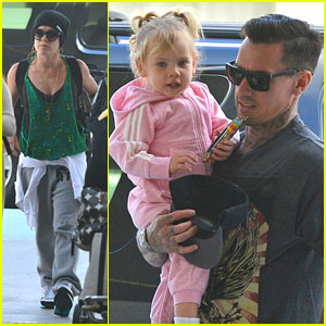 Pink Catches a Father's Day Flight with Carey Hart!