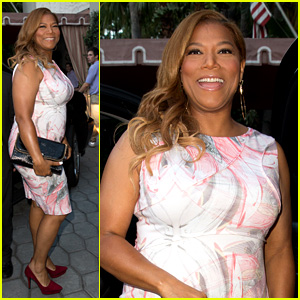 Queen Latifah Promotes Talk Show at Sunset Tower
