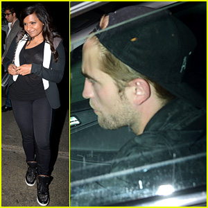 Robert Pattinson & Mindy Kaling: Chateau Marmont Sig