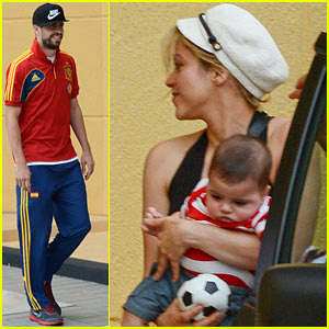 Shakira Carries Toy Soccer Ball for Milan!